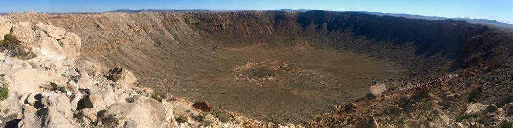 thekumachan.com Meteor Crater Banner